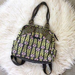Petunia Pickle Bottom Rose Canvas Diaper Bag